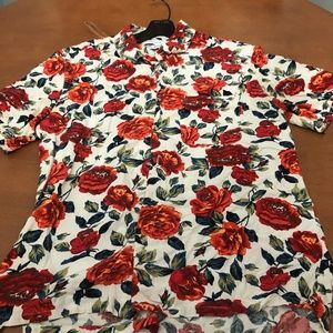 Urban Outfitters Rayon Floral Button Up